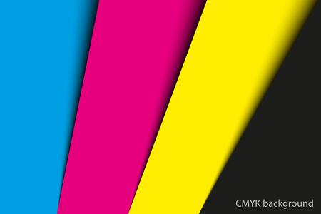 Abstract background, sheets of paper in cmyk colors, vector illustration Illustration