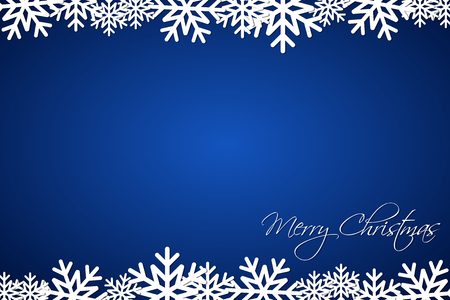christmas backdrop: Christmas blue background lined snowflakes, simple holiday card, Merry Christmas