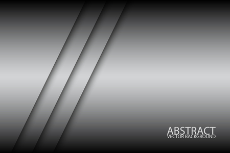 Abstract background with two grey stripes, oblique lines, grey creative vector background Illustration