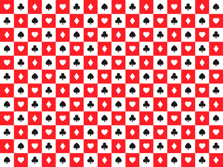 Seamless Abstract Vector Poker Background With Playing Cards