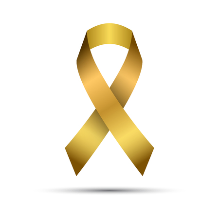Modern golden vector ribbon isolated on white background