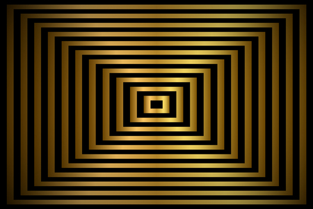 Golden abstract background, gold rectangles with shadow, vector illustration Ilustrace