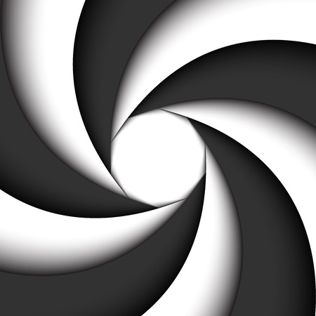Dark grey and white modern swirl, abstract background, simple illustration