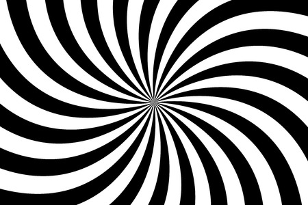 Black and white spiral background, swirling radial pattern, abstract illustration 일러스트
