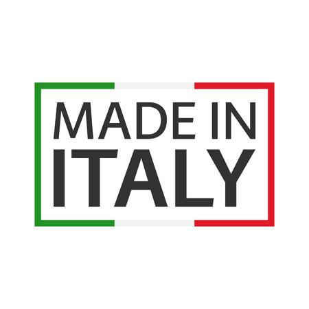 Marque de qualité Made in Italy, symbole vecteur de couleur avec tricolore italien isolé sur fond blanc
