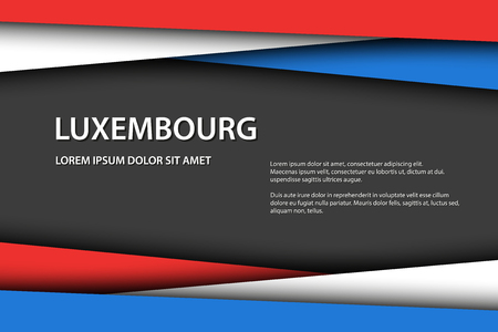 Vector background with Luxembourg colors and free grey space for your text, Luxembourg flag, Made in Luxembourg, Luxembourg icon and symbol Vectores