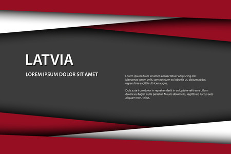 Vector background with Latvian colors and free grey space for your text, Latvian flag, Made in Latvia, Latvian icon and symbol