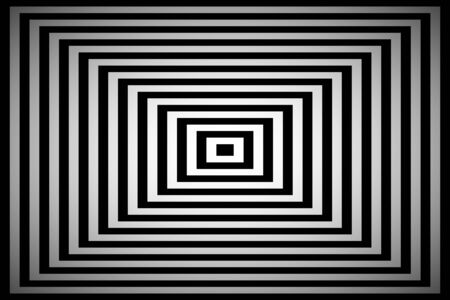 Black and white square simple abstract pyramid
