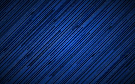 Dark abstract background with blue and black slanting lines, striped pattern, parallel lines and strips, diagonal fiber, vector illustration