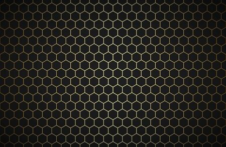 Geometric polygons background, abstract black and gold metallic wallpaper, simple vector illustration Vector Illustratie