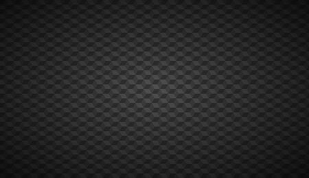 Black abstract cubic background, digital mosaic cube pattern, vector illustration