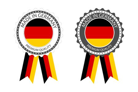 Set of premium quality labels with German flag