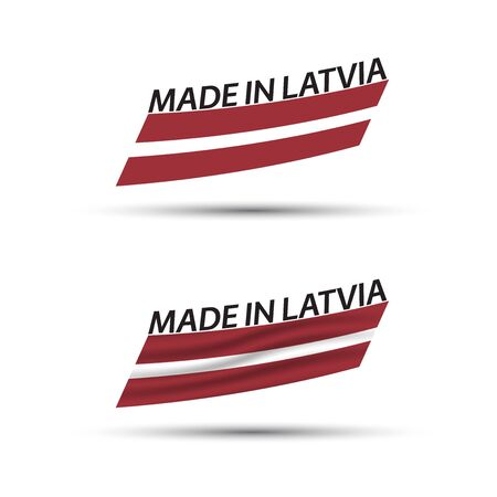 Two modern colored vector Latvian flags isolated on white 向量圖像
