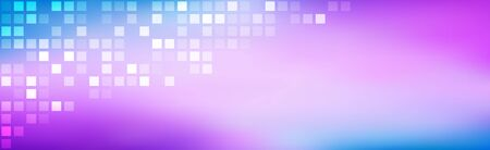 Abstract bright rainbow heared. Purple blue gradient with transparent squares. Modern mosaic look. Simple modern satin texture. Vector background