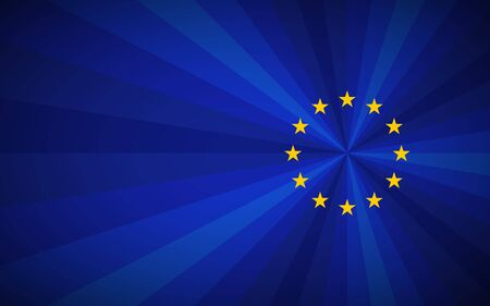 SImple blue vector European union background with EU yellow stars Vettoriali
