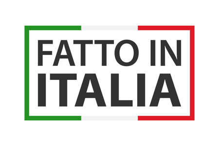 Quality mark Made in Italy, colored vector symbol with Italian tricolor isolated on white background Ilustracja