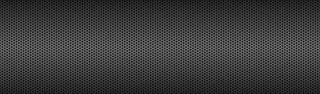 Technology geometric polygons header. Abstract black metallic hexagonal banner background. Simple vector illustration