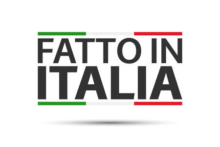 Made in Italy, colored symbol with Italian tricolor isolated on a white background Ilustracja