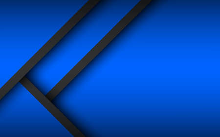 Abstract background with black and blue layers above each other. Modern design template for your business. Vector illustration with oblique stripes and lines