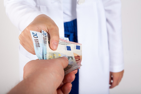 Hospital care: Doctor take money