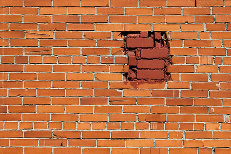 revetment: Background of red brick wall texture