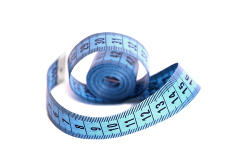 extent: A blue measuring tape isolated