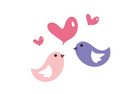 romanticist: Love birds all around you Illustration