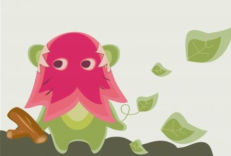 greeen: Greeen Flora Monster Illustration