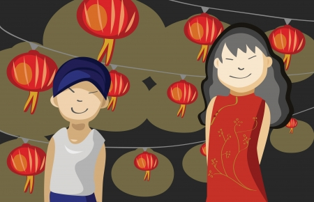 Asian Kids Vector