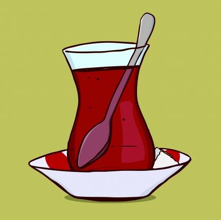 sugar cube:  Turkish Tea Glass
