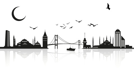Istanbul Silhoutte 向量圖像