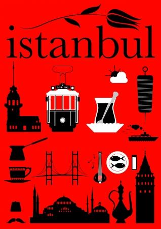 Istanbul Pictograms Set  Illusztráció