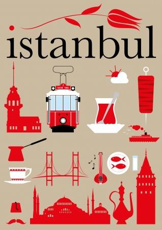 istanbul: Istanbul Pictograms Set  Illustration