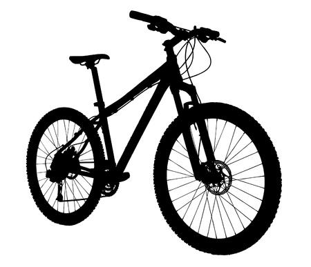 mountain bike: Bicycle silhouette  Illustration
