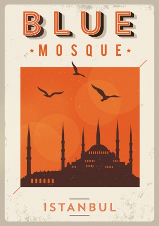 Vintage Blue Mosque Istanbul Poster