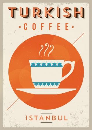 Vintage Turkish Coffee Poster Stockfoto - 20952231