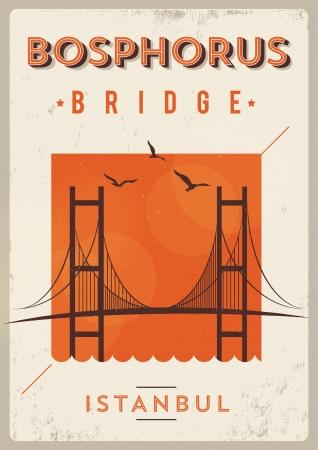 Vintage Bosphorus Istanbul Poster