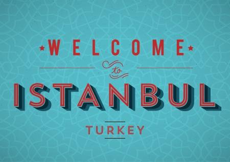 Vintage Istanbul Card Design  Illusztráció