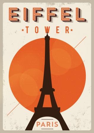 Vintage Eiffel Tower - Paris Poster Stock fotó - 21357873