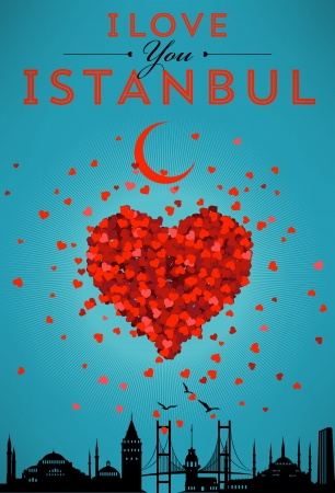 hagia sophia: I Love You Istanbul Poster Illustration