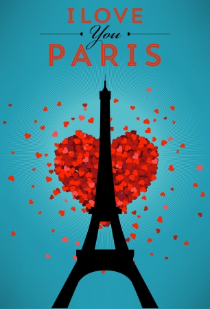 I Love You Paris Poster