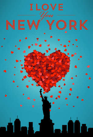 new york skyline: I Love New York Poster