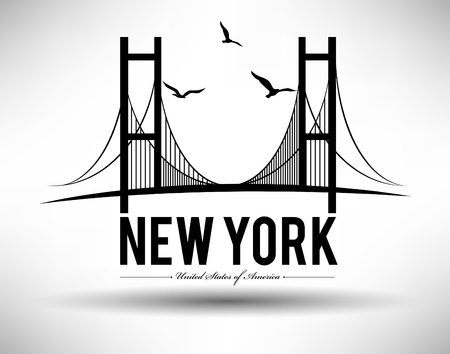 manhattan bridge: New York Typography Design