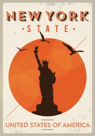 manhattan bridge: Vintage New York Poster