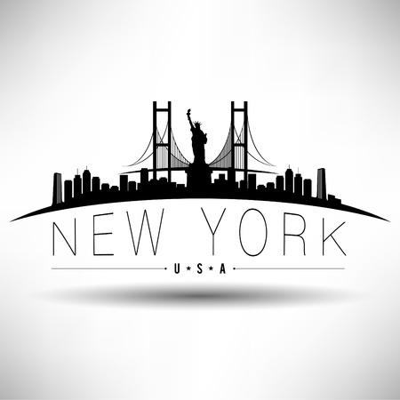 ville usa: New York Conception de typographie
