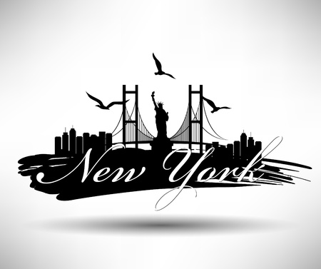 new york skyline: New York Typography Design