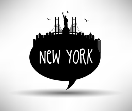 New York Typography Design Vector