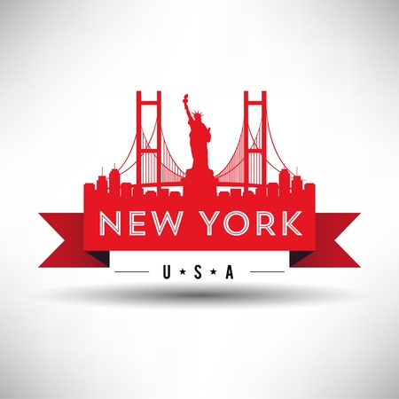 manhattan skyline: New York Typography Design