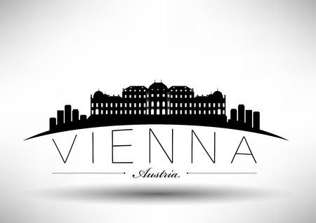 Modern Vienna Typographic Design  Vector
