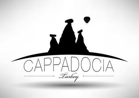 Cappadocia City Skyline Design  Vector